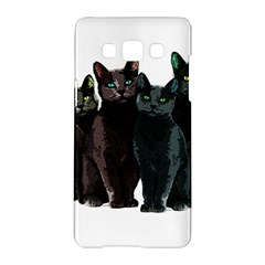 Cats Samsung Galaxy A5 Hardshell Case  by Valentinaart