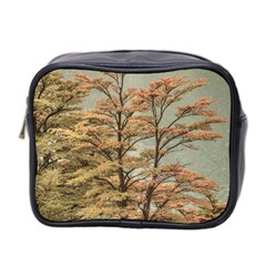 Landscape Scene Colored Trees At Glacier Lake  Patagonia Argentina Mini Toiletries Bag 2 Side by dflcprints