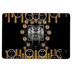 Foxy Panda Lady With Bat And Hat In The Forest Ipad Air Flip by pepitasart