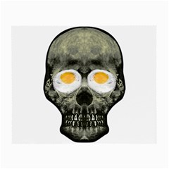 Skull With Fried Egg Eyes Small Glasses Cloth (2 Side) by dflcprints