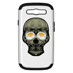 Skull With Fried Egg Eyes Samsung Galaxy S Iii Hardshell Case (pc+silicone) by dflcprints