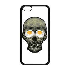 Skull With Fried Egg Eyes Apple Iphone 5c Seamless Case (black) by dflcprints