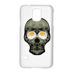 Skull With Fried Egg Eyes Samsung Galaxy S5 Case (white) by dflcprints