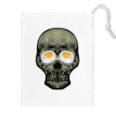 Skull With Fried Egg Eyes Drawstring Pouches (xxl) by dflcprints