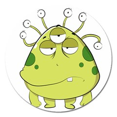 The Most Ugly Alien Ever Magnet 5  (round) by Catifornia
