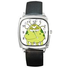 The Most Ugly Alien Ever Square Metal Watch by Catifornia