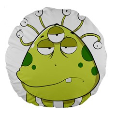 The Most Ugly Alien Ever Large 18  Premium Round Cushions by Catifornia