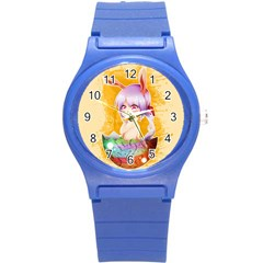 Easter Bunny Furry Round Plastic Sport Watch (s) by Catifornia
