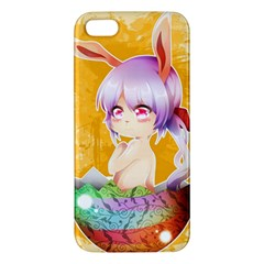 Easter Bunny Furry Apple Iphone 5 Premium Hardshell Case by Catifornia