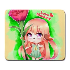 Happy Mother s Day Furry Girl Large Mousepads by Catifornia