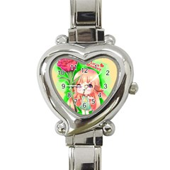 Happy Mother s Day Furry Girl Heart Italian Charm Watch by Catifornia