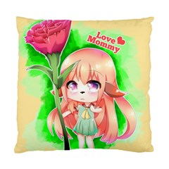 Happy Mother s Day Furry Girl Standard Cushion Case (one Side) by Catifornia