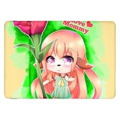 Happy Mother s Day Furry Girl Samsung Galaxy Tab 8 9  P7300 Flip Case by Catifornia