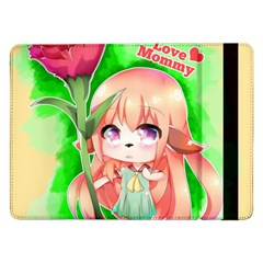 Happy Mother s Day Furry Girl Samsung Galaxy Tab Pro 12 2  Flip Case by Catifornia
