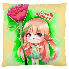 Happy Mother s Day Furry Girl Standard Flano Cushion Case (two Sides) by Catifornia