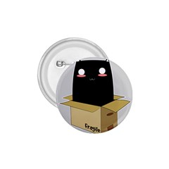 Black Cat In A Box 1 75  Buttons by Catifornia
