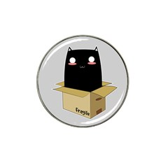Black Cat In A Box Hat Clip Ball Marker (10 Pack) by Catifornia