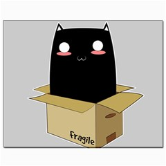 Black Cat In A Box Canvas 8  X 10  by Catifornia