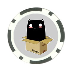 Black Cat In A Box Poker Chip Card Guard by Catifornia