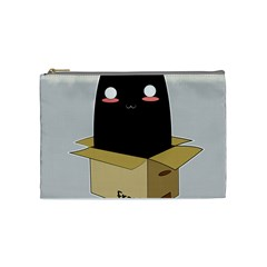 Black Cat In A Box Cosmetic Bag (medium)  by Catifornia