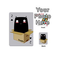 Black Cat In A Box Playing Cards 54 (mini)  by Catifornia