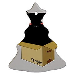 Black Cat In A Box Ornament (christmas Tree)  by Catifornia