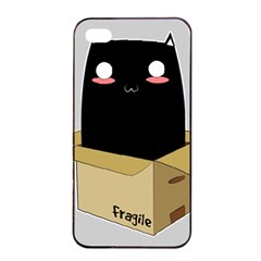 Black Cat In A Box Apple Iphone 4/4s Seamless Case (black) by Catifornia