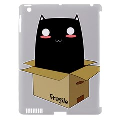 Black Cat In A Box Apple Ipad 3/4 Hardshell Case (compatible With Smart Cover) by Catifornia