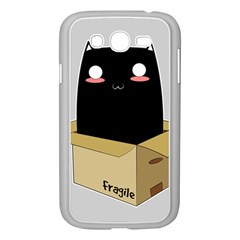 Black Cat In A Box Samsung Galaxy Grand Duos I9082 Case (white) by Catifornia