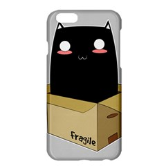 Black Cat In A Box Apple Iphone 6 Plus/6s Plus Hardshell Case by Catifornia