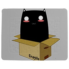 Black Cat In A Box Jigsaw Puzzle Photo Stand (rectangular) by Catifornia