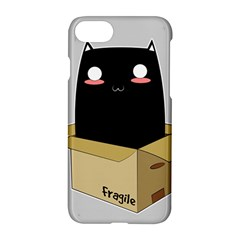 Black Cat In A Box Apple Iphone 7 Hardshell Case by Catifornia