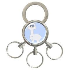 Grumpy Persian Cat Llama 3 Ring Key Chains by Catifornia