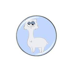 Grumpy Persian Cat Llama Hat Clip Ball Marker (4 Pack) by Catifornia