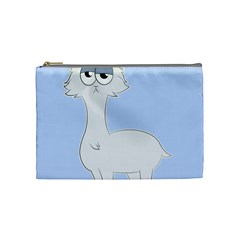 Grumpy Persian Cat Llama Cosmetic Bag (medium)  by Catifornia