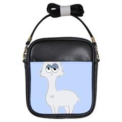 Grumpy Persian Cat Llama Girls Sling Bags by Catifornia