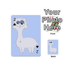 Grumpy Persian Cat Llama Playing Cards 54 (mini)  by Catifornia