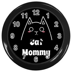 Love My Cat Mommy Wall Clocks (black) by Catifornia