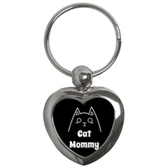Love My Cat Mommy Key Chains (heart)  by Catifornia
