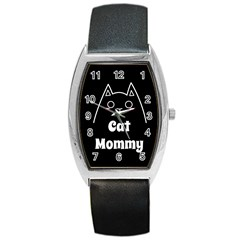 Love My Cat Mommy Barrel Style Metal Watch by Catifornia