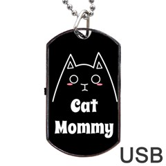 Love My Cat Mommy Dog Tag Usb Flash (one Side) by Catifornia