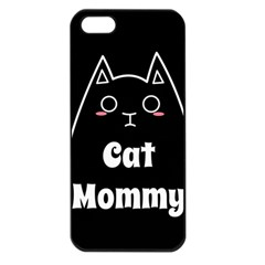 Love My Cat Mommy Apple Iphone 5 Seamless Case (black) by Catifornia