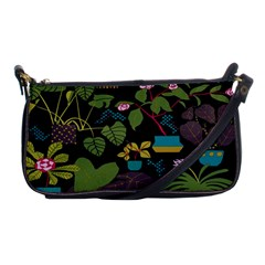 Wreaths Flower Floral Leaf Rose Sunflower Green Yellow Black Shoulder Clutch Bags by Mariart