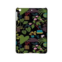 Wreaths Flower Floral Leaf Rose Sunflower Green Yellow Black Ipad Mini 2 Hardshell Cases by Mariart