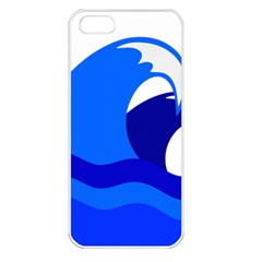 Blue Beach Sea Wave Waves Chevron Water Apple Iphone 5 Seamless Case (white) by Mariart