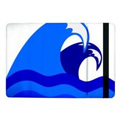 Blue Beach Sea Wave Waves Chevron Water Samsung Galaxy Tab Pro 10 1  Flip Case by Mariart