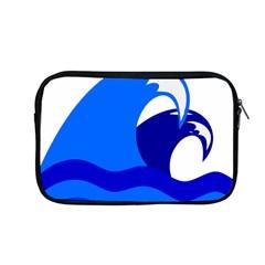 Blue Beach Sea Wave Waves Chevron Water Apple Macbook Pro 13  Zipper Case by Mariart
