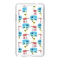 Animals Elephants Giraffes Bird Cranes Swan Samsung Galaxy Note 3 N9005 Case (white) by Mariart