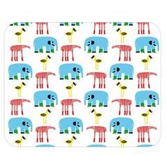 Animals Elephants Giraffes Bird Cranes Swan Double Sided Flano Blanket (medium)  by Mariart