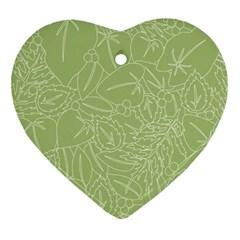 Blender Greenery Leaf Green Ornament (heart) by Mariart